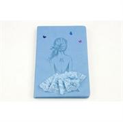 Blok bilježnica A5 Baletna plesačica, 96 listova, svijetlo plava