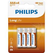 Baterija Philips Longlife AAA-R03, 4 komada