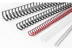 Metalne spirale, 6,4 mm, bijela