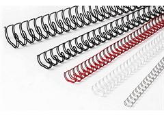 Metalne spirale, 14,3 mm, bijela
