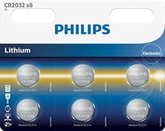 Baterija Philips CR2032, 3V, 6 komada