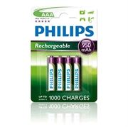 Baterija Philips Polnilna AAA-LR03, 4 komada