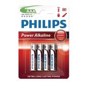 Baterija Philips Power Alkaline AAA-R03, 4 komada