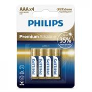 Baterija Philips Premium Alkaline AAA-LR03, 4 komada