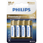 Baterija Philips Premium Alkaline AA-LR6, 4 komada