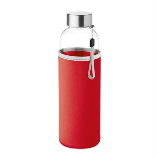 Staklena boca Glass za vodu, 500 ml, crvena