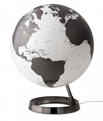 Globus Metal Charcoal, 30 cm, sa svjetlom, engleski
