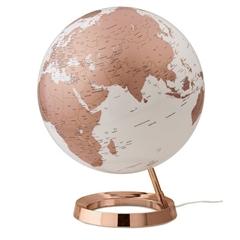 Globus Metal Copper, 30 cm, sa svjetlom, engleski