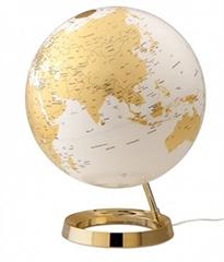 Globus Metal Gold, 30 cm, sa svjetlom, engleski