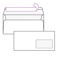 Kuverta American, 230 x 110 mm, s desnim prozorom, 500 komada, 100 g