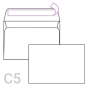 Kuverta C5, 162 x 229 mm, bijela, 90 g, 50 komada