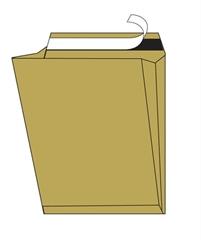 Kuverta vrećica A3, 300 x 400 x 100 mm, smeđa, za registratore, 10 komada