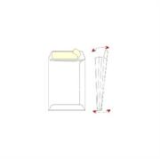 Kuverta vrećica B4, 250 x 355 x 40 mm s dnom, bijela, 120 g, 250 komada
