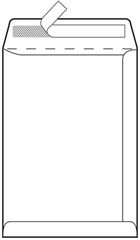 Kuverta vrećica, 310 x 440 mm, bijela, 100 komada
