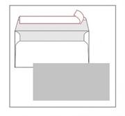 Kuverta American, u boji (siva), 230 x 110 mm, bez prozora, 100 komada