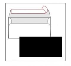 Kuverta American, u boji (crna), 220 x 110 mm, bez prozora, 25 komada