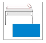 Kuverta American, u boji (plava), 220 x 110 mm, bez prozora, 25 komada
