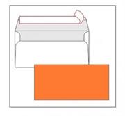 Kuverta American, u boji (narančasta), 220 x 110 mm, bez prozora, 25 komada