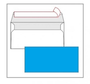 Kuverta American, u boji (svijetlo plava), 220 x 110 mm, bez prozora, 25 komada
