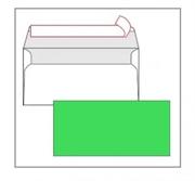 Kuverta American, u boji (zelena), 220 x 110 mm, bez prozora, 25 komada