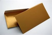 Kuverta American, u boji (zlatna), 220 x 110 mm, bez prozora, 500 komada