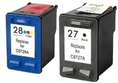 Tinta HP za C8727AE nr.27 (crna) + C8728AE nr.28 (barvna), zamjenski