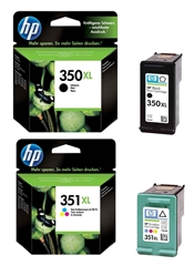 Komplet tinta za HP nr.350XL (BK) + nr.351XL (boja), original