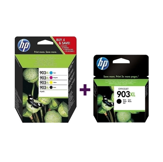Komplet tinta za HP 3HZ51AE nr.903XL (BK/C/M/Y) + T6M15AE nr.903XL (BK), original