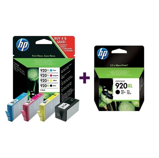 Komplet tinta za HP C2N92AE nr.920XL (BK/C/M/Y) + CD975AE nr.920XL (crna), original
