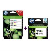 Komplet tinta za HP 3HZ52AE nr.953XL (BK/C/M/Y) + L0S70AE nr.953XL (crna), original