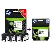 Komplet tinta za HP C2P43AE nr.950/951XL (BK/C/M/Y) + CN045AE nr.950XL (crna), original