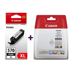 Komplet tinta za Canon CLI-571 (BK/C/M/Y) + PGI-570BK XL (crna), original