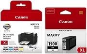 Komplet tinta za Canon PGI-1500XL (BK/C/M/Y) + PGI-1500XL BK (crna), original