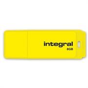 USB stick Integral Neon, 8 GB, žuta