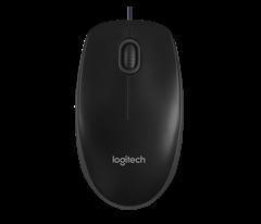 Miš Logitech B100, žičani, crni
