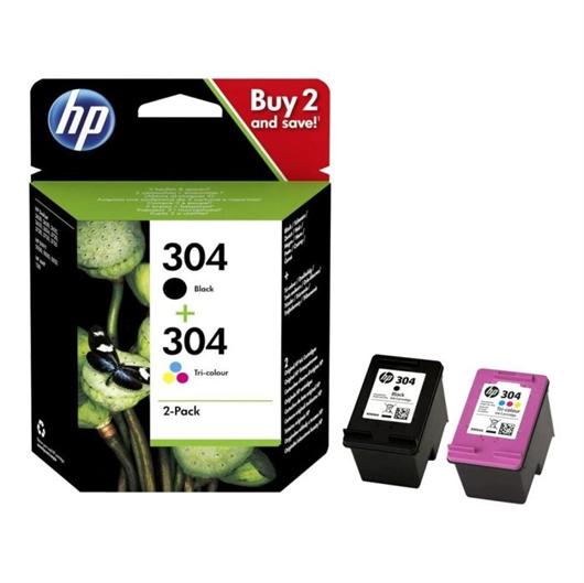 Komplet tinta HP 3JB05AE (nr.304 BK + nr.304 CMY), original