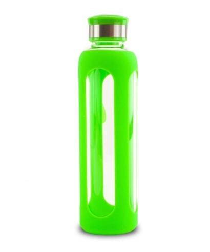 Boca za vodu sa silikonskim ovojem, 500 ml, zelena