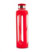 Boca za vodu sa silikonskim ovojem, 500 ml, crvena