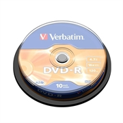 DVD-R medij Verbatim 4,7 GB, 16x, 10 komada