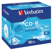 CD-R medij Verbatim 800MB/90min 40x, 10 komada