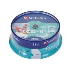 CD-R medij Verbatim 700MB/80min 52x, 25 komada, printable