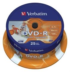 DVD-R medij Verbatim 4,7GB,  16x, 25 komada, printable