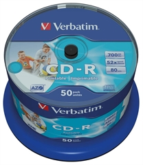 CD-R medij Verbatim 700MB/80min 52x, 50 komada