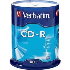 CD-R medij Verbatim 700MB/80min 52x, 100 komada