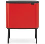 Koš za smeće Brabantia Bo Touch, 11 + 23 L, crvena