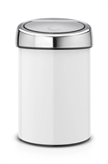 Koš za smeće Brabantia Touch, 3 L, bijeli, s nosačem za zid
