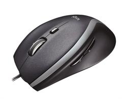 Miš Logitech M500, žični, sivo-crni