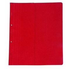 Mapa prešpan s metalnim obrubom, polovičnom prednjom stranicom, crvena