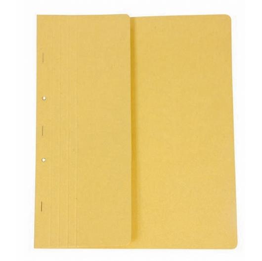 Mapa prešpan s metalnim obrubom, polovičnom prednjom stranicom, žuta