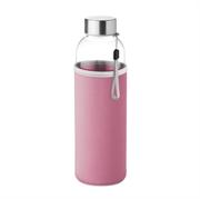 Staklena boca Glass za vodu, 500 ml, ružičasta